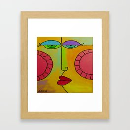 Funky Face Abstract Digital Painting Framed Art Print