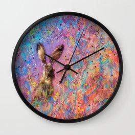 Aura of the Jackrabbit Wall Clock