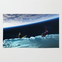skiing Area & Throw Rugs featuring Skiing by Cs025