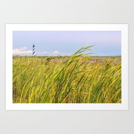 Lighthouse in the Distance Art Print