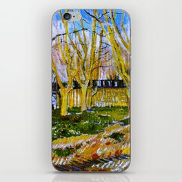 Avenue of Plane Trees near Arles Station, Vincent van Gogh iPhone Skin