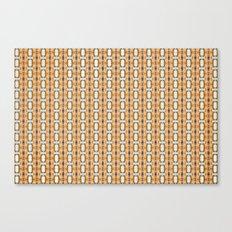 Geometric oblongs on orange Canvas Print