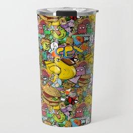 Graffiti seamless texture Travel Mug