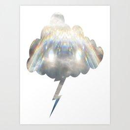 Divine Light Lightning Cloud  Art Print