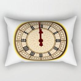 Big Ben Midnight Clock Face Rectangular Pillow