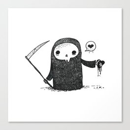 Valentines Day Reaper Canvas Print
