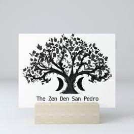 The Zen Den San Pedro Black on White Mini Art Print