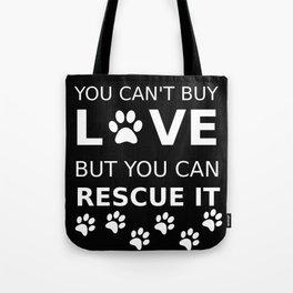 Animal rescue love Tote Bag