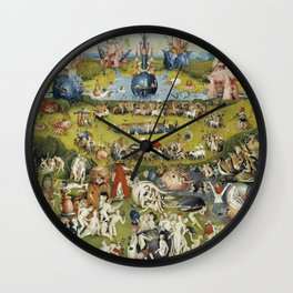 THE GARDEN OF EARTHLY DELIGHT - HEIRONYMUS BOSCH Wall Clock