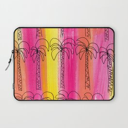 Live For the Moment (palm trees pattern summer beach tropical) Laptop Sleeve