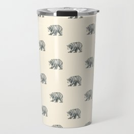 Brown Bear Graphite Study Travel Mug