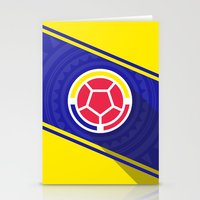 colombia Stationery Cards featuring Seleccion Colombia by DAN LOZ