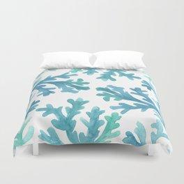 Blue Ombre Coral Duvet Cover