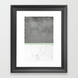 Green Marble Concrete Fusion Framed Art Print