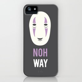 Noh Way Spirited Away Minimalist iPhone Case