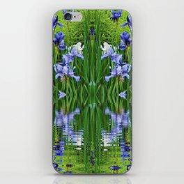 PURPLE IRIS WATER GARDEN  REFLECTION iPhone Skin