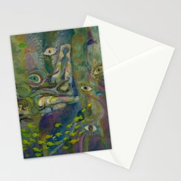 Lila the naiad Stationery Cards