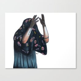 Floral Ghost Canvas Print
