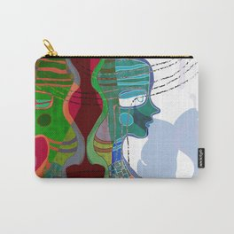 Girl Silhouette With Shapes V Carry-All Pouch