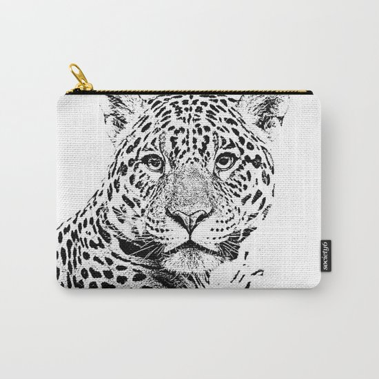 Cheetah Sketch Carry-All Pouch