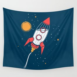 Bottle Rocket to the Milky Way Wall Tapestry