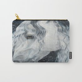 Long Haired White Horse Carry-All Pouch