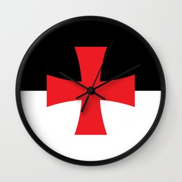 Knights Templar Flag - High Quality Wall Clock