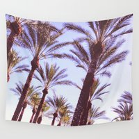 palms Wall Tapestries featuring Palms by lilycreations
