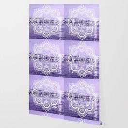 Water Mandala Lavender Wallpaper