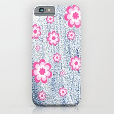 Pink Flowers iPhone 6s Slim Case