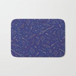 Yer a Wizard - Blue + Bronze Bath Mat