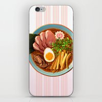 ramen iPhone & iPod Skins featuring Ramen by Tami Wicinas