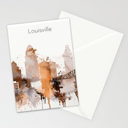 Vintage Louisville skyline design Stationery Cards