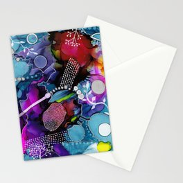 Dark Reef of Currant and Indigo Stationery Cards