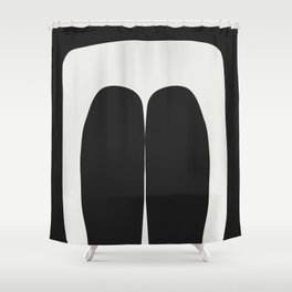 Holding On Black White Shower Curtain