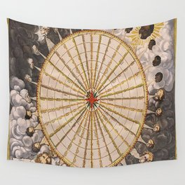 1657 Winds of the Earth by Jan Janszon Wall Tapestry