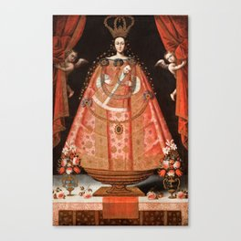 Virgin of Belén - Peru, Cuzco School, 1700 Canvas Print