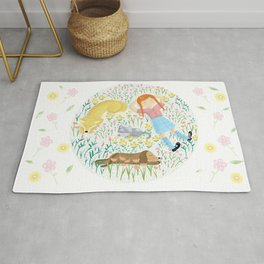 Summer Afternoon With Dogs, Cats And Clouds Rug