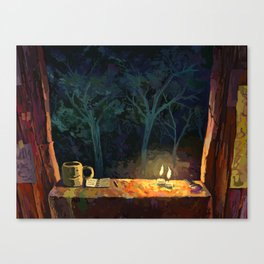 Treefort contemplation Canvas Print