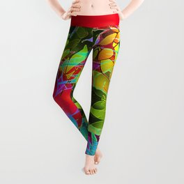 Floral Abstract Artwork G125 Leggings