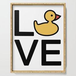 Love Ducks Cute And Funny Love Design Serving Tray
