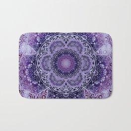 Lilac Boho Brocade Mandala Bath Mat