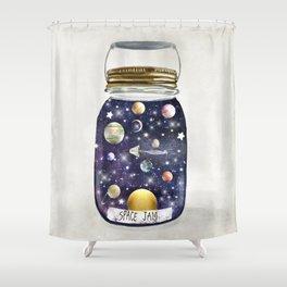 space jam jar Shower Curtain