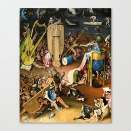 The Garden of Earthly Delights - Bosch - Hell Bird Man Detail Canvas Print