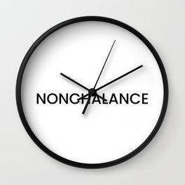 Nonchalance Wall Clock