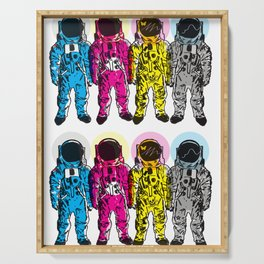 CMYK Spacemen Serving Tray