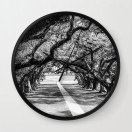 Louisiana Path Through the Oaks Wall Clock