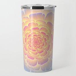 Romantic violet and yellow flower Travel Mug