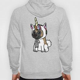 Akita Unicorn Hat  Hoody