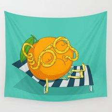 Orange Juice Wall Tapestry